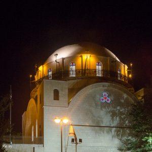 בית כנסת החורבה בירושלים- חימום תת רצפתי חשמלי